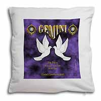 Gemini Star Sign Birthday Gift Soft Velvet Feel Cushion Cover With Inner Pillow