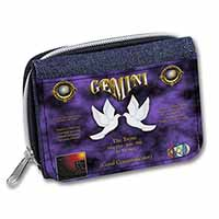 Gemini Star Sign Birthday Gift Girls/Ladies Denim Purse Wallet Christmas Gift Id