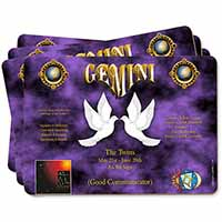 Gemini Star Sign Birthday Gift Picture Placemats in Gift Box