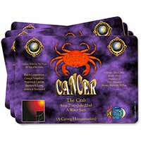Cancer Star Sign Birthday Gift Picture Placemats in Gift Box