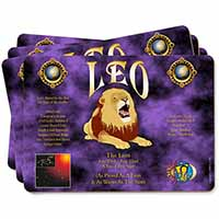 Leo Astrology Star Sign Birthday Gift Picture Placemats in Gift Box