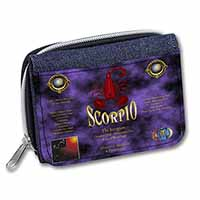 Scorpio Star Sign of the Zodiac Girls/Ladies Denim Purse Wallet Birthday Gift Id