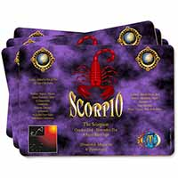 Scorpio Star Sign of the Zodiac Picture Placemats in Gift Box