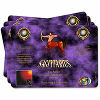 Sagittarius Star Sign of the Zodiac Picture Placemats in Gift Box