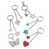 Double Star Keyring (Silver Glitter)