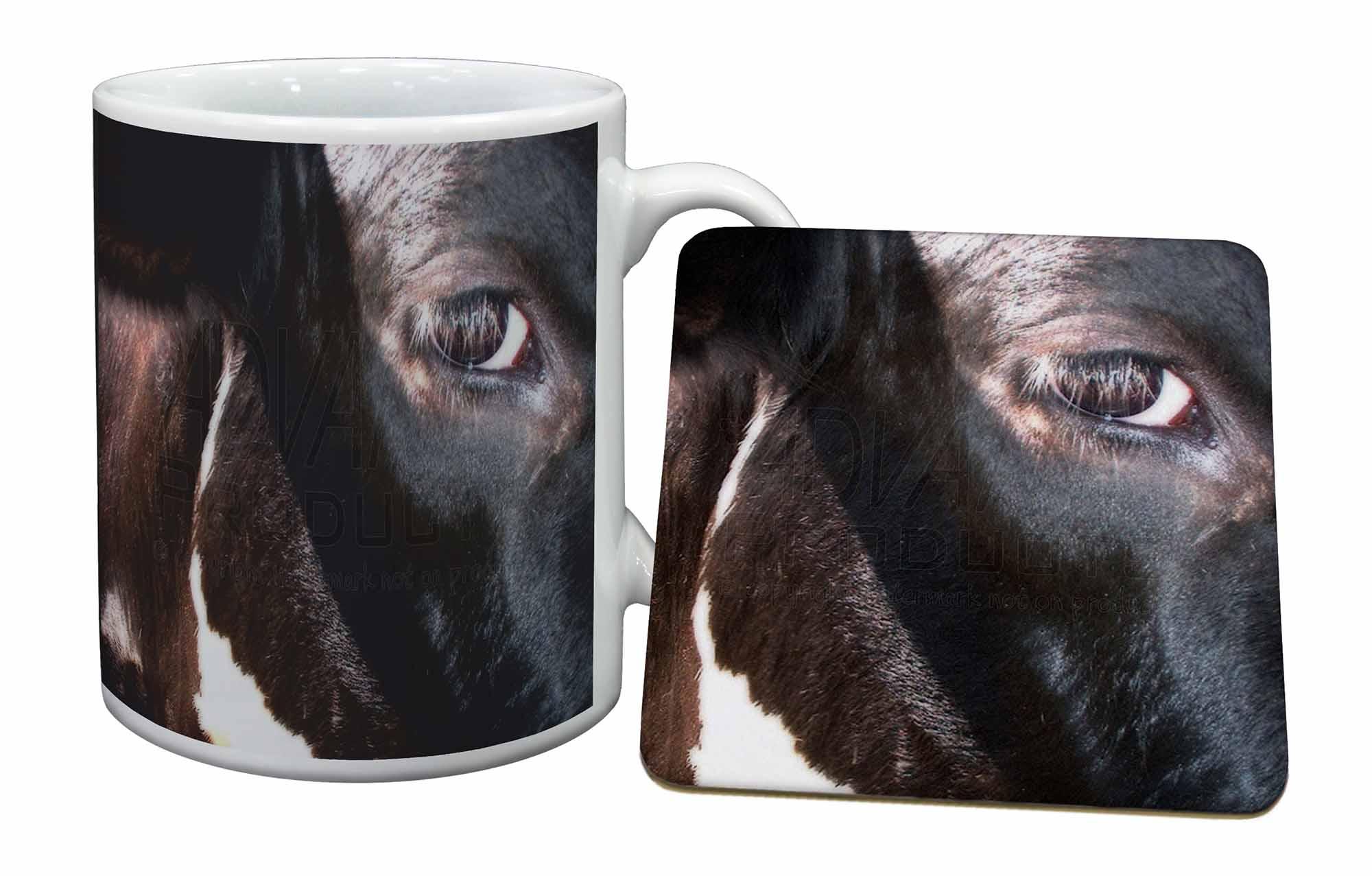Pretty fresian cow face mug and coaster animal gifts ebay for Animal face mugs