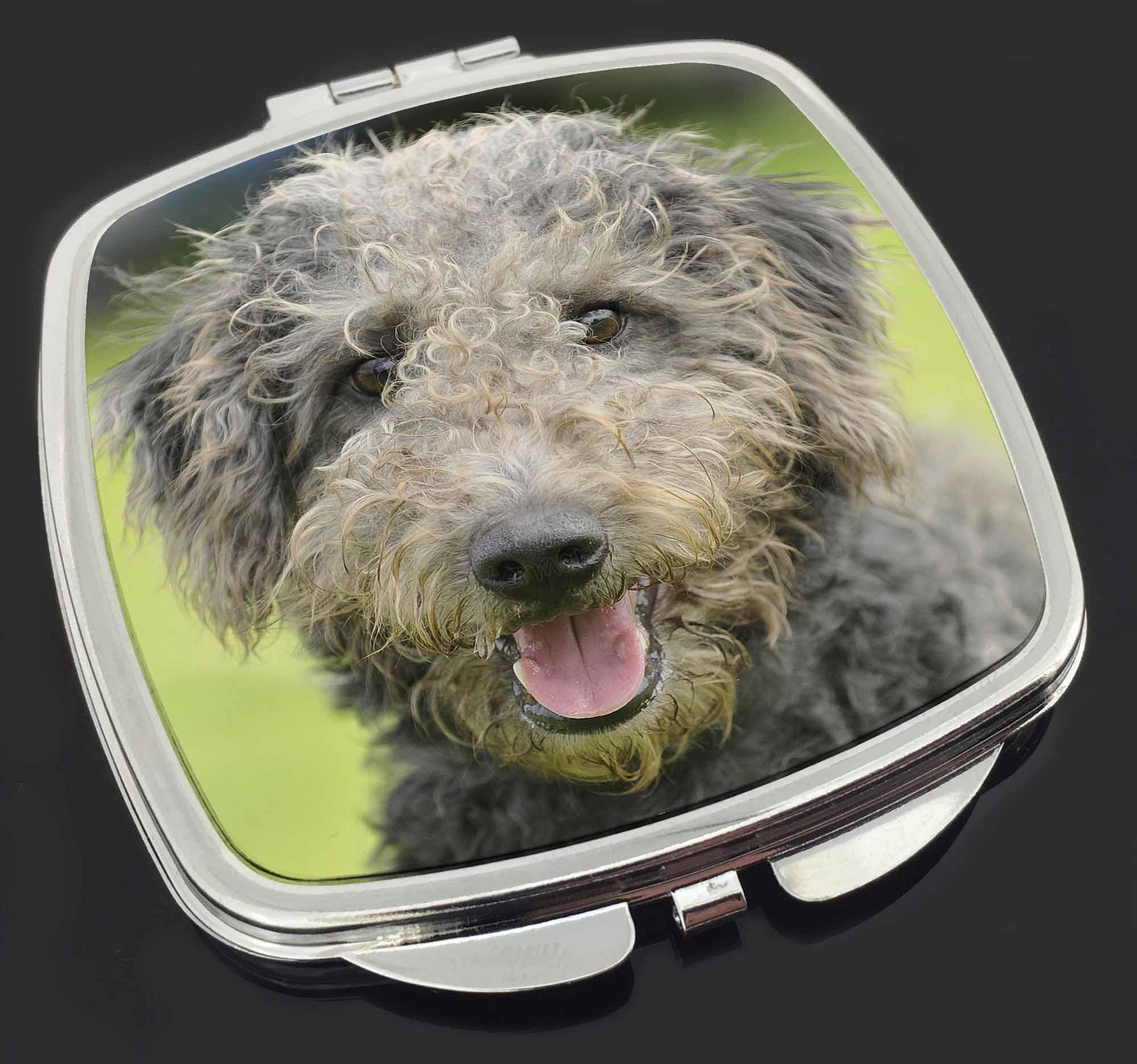 beddlington terrier hund kompakter make up spiegel. Black Bedroom Furniture Sets. Home Design Ideas