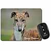 AD-GH7ySC Brindle Greyhound /'Yours Forever/' Single Leather Photo Coaster Animal