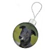 Black Greyhound Dog Christmas Bauble Decoration