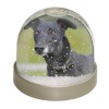 Black Greyhound Dog Snow Dome Globe Waterball Gift
