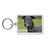 Black Greyhound Dog Photo Keyring Animal Gift