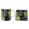 Black Greyhound Dog Mug and Coaster Animal Gifts