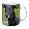 Black Greyhound Dog Coffee Mug Birthday Gift Idea