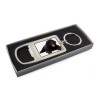 Black Labradoodle Dog Bottle Opener Keyring Gift