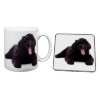 Black Labradoodle Dog Mug and Coaster Animal Gifts
