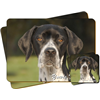 "German Pointer Dog ""Yours Forever…"" Sentiment Coaster and Placemat Gift Set"