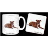 "Staffordshire bull Terrier ""Love You Mum..."" 11oz Mug and Coaster Set"