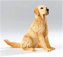 Golden Retrierver Dog Sitting Country Artists Figurine