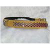 "17"" Sand Nubuck+Pink-Purple Jewels Collar"