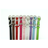 Narrow Leather Pet Collars With Diamante Buckle