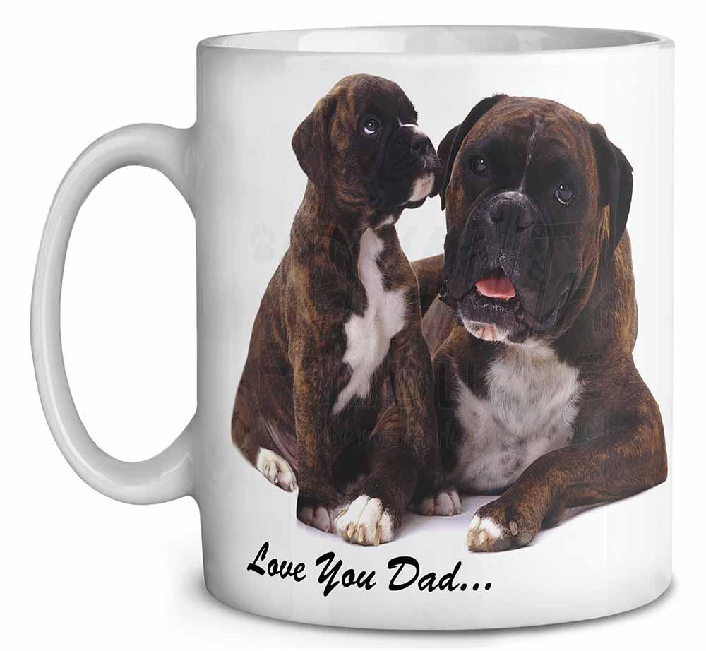 boxer hund 39 liebe dich papa 39 kaffee becher geburtstag. Black Bedroom Furniture Sets. Home Design Ideas