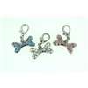 Sparkly Jewel Dog Bone Charm Pet Jewellery Blue, Pink or Clear JCHBON