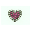 Jewel Charms Pink and Silver Heart