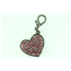 Jewelled Heart Dog Charm for Pet Collar JCHHRT