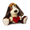 "Baxter Dog 23"" with a Red Velvet Heart Valentine Love Gift 39308"