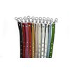 Silver Dog Leash With Colourfull Jewel Decoration
