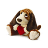 "Baxter Dog 14"" with a Red Velvet Heart Valentine Love Gift 39306"