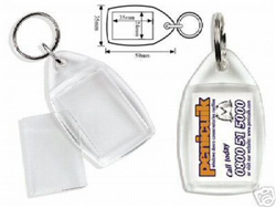 25 x Clear View Photo Key-Rings Make Your Own Picture Keyrings P5X25